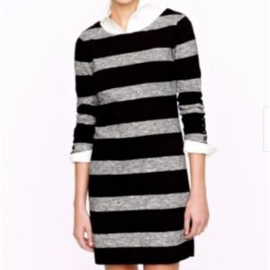 J Crew Maritime Dress Black and Gray Stretch Dress